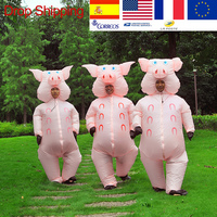 Inflatable Pink Pig Costume Adult Kids Dress Anime Cosplay Halloween Costumes For Halloween Pig Cute Funny Paty Cosplay Clothes