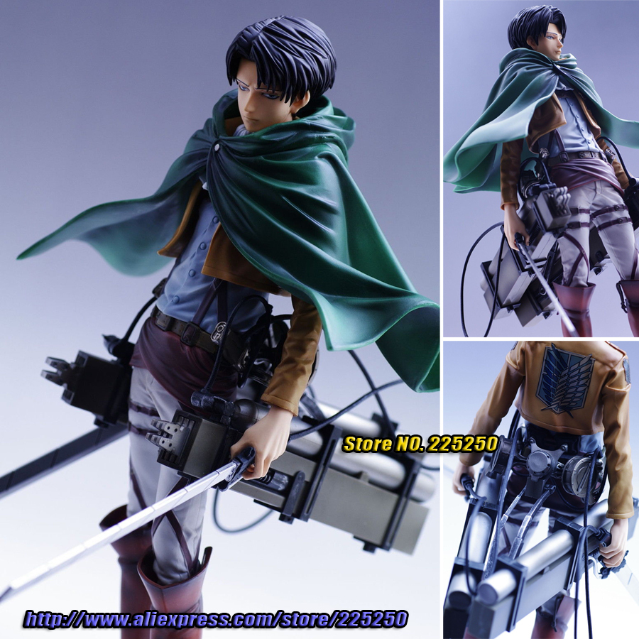 Japanese Anime Attack on Titan Original BANPRESTO Master Stars Piece / MSP Figures - Levi + 3D Maneuver Gear japanese anime poke death note attack on titan one piece game ow short wallet with coin pocket zipper poucht billetera