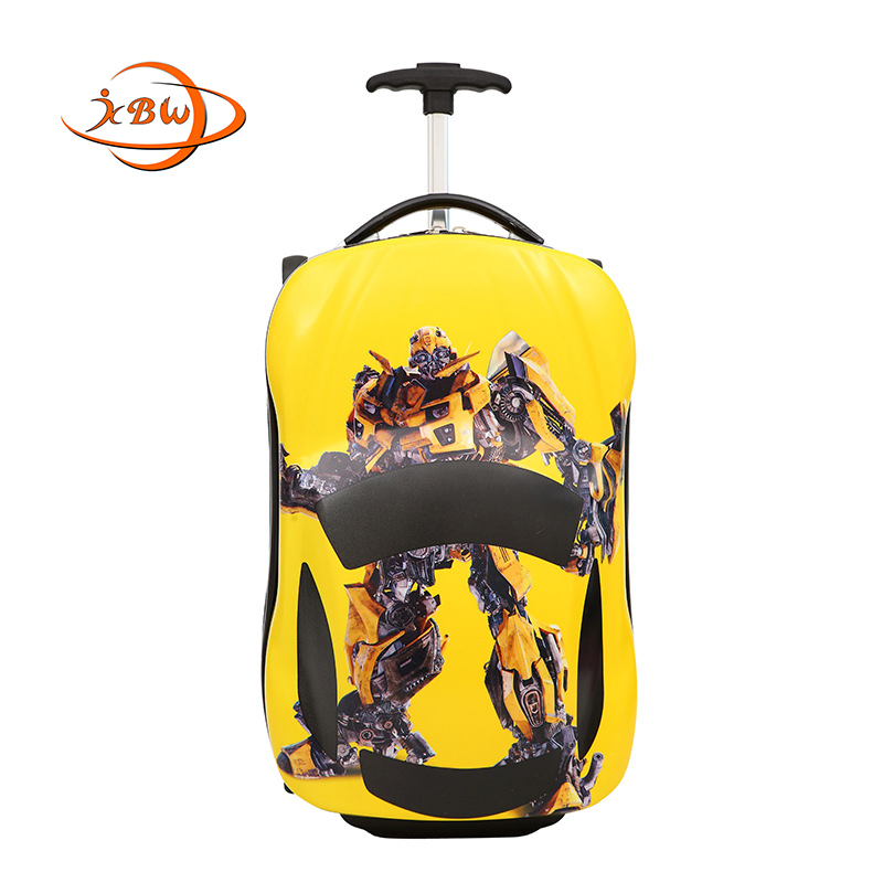 JKBW Bumble Bee Cartoon Supercar Trolley Suitcase Luggage Bag 18 Inch Travel Children