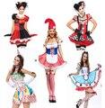 Novos 14 estilos sexy fantasias femininas halloween mulheres adulto clássico harley quinn cosplay harley quinn traje dress