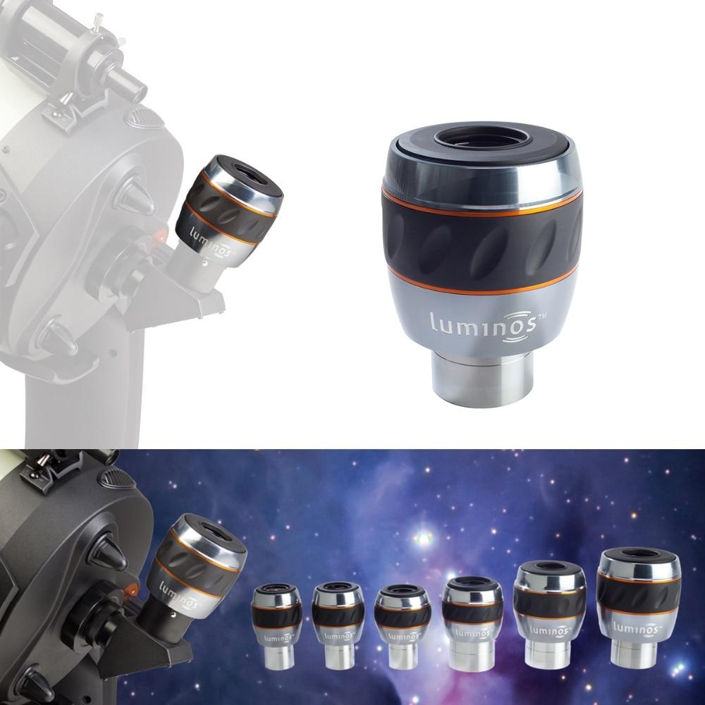 Celestron LUMINOS 82 degrés oculaire 1.25 pouces 7mm 10mm 15mm 2 pouces 19mm 23mm 31mm lentilles de télescope entièrement multicouches