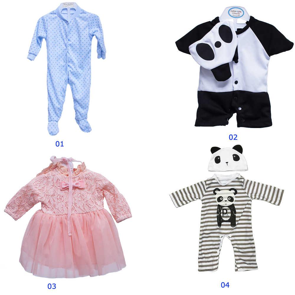 48-55 см reborn baby dolls Одежда bebe комплект детской одежды принцесса roupa детская одежда куклы аксессуары bonecas подарок