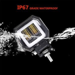 Image 5 - Worklight קורות 3 20W מנורת נהיגה פנסי ערפל בשעות היום ריצת אורות חדש 7D עבור מכוניות אופנועים ג יפים הילה טרקטורונים 12V 24V SUV