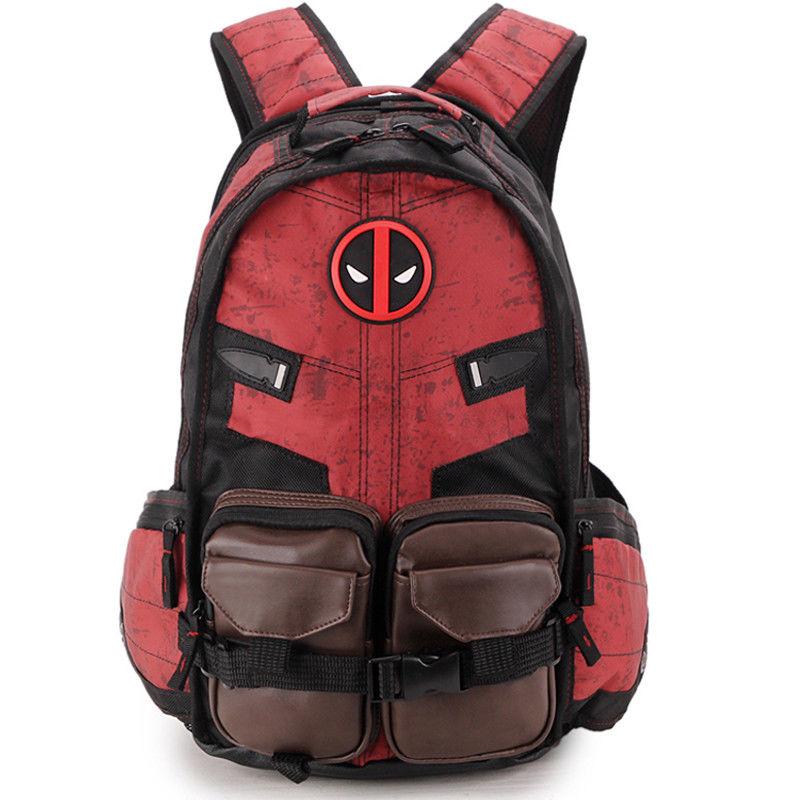 IVYYE 1PCS Deadpool Fashion Canvas Backpacks Rucksacks Cartoon School Backpack Casual Bags Travel Knapsack Unisex New
