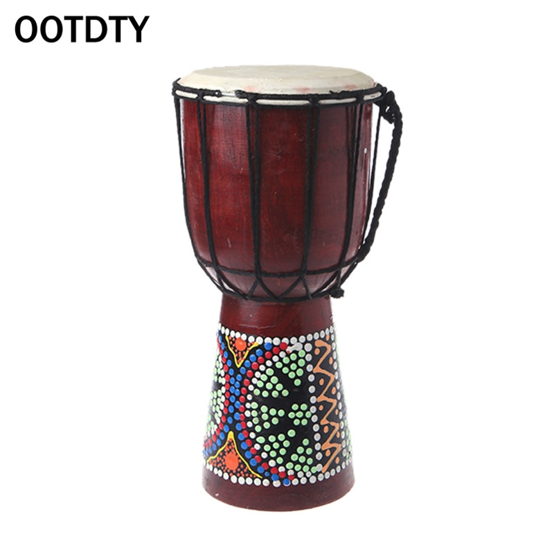OOTDTY 30cm Professional African Djembe Drum Bongo Wooden Good Sound Musical Instrument