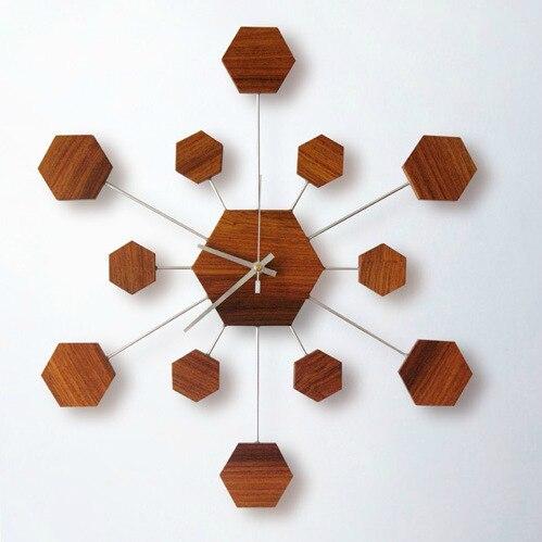 Creativo decoración del hogar / simple de madera sólida / moderno artesanal  reloj de madera /