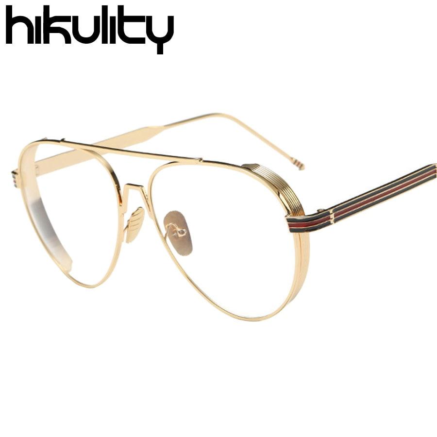 2d0cd32714 Ralferty 2017 Retro Punk Glasses Frame Women Men Round Gold Metal Eyewear  Vintage Clear Lens Optical Frames Eyeglasses 52050