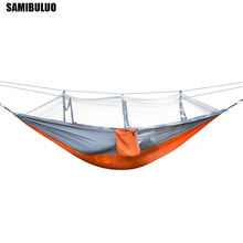 Portable hammock Outdoor Furniture Mosquito net Hammock for Camping