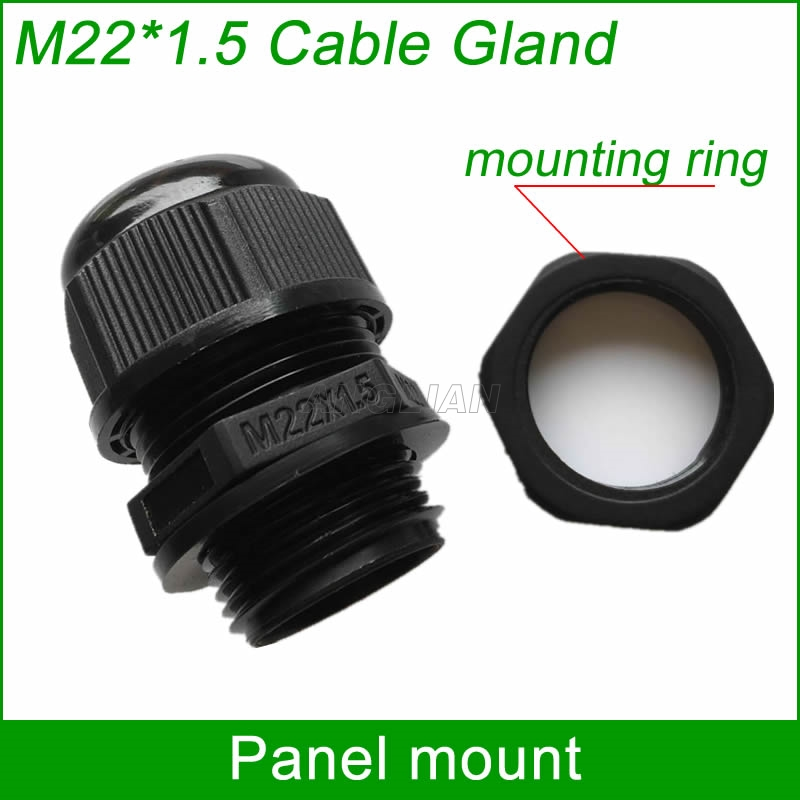 RJ45 waterproof connector M22*1.5 Cable Gland with mounting ring for cable diameter 5-8.5mm be waterproof 10 units