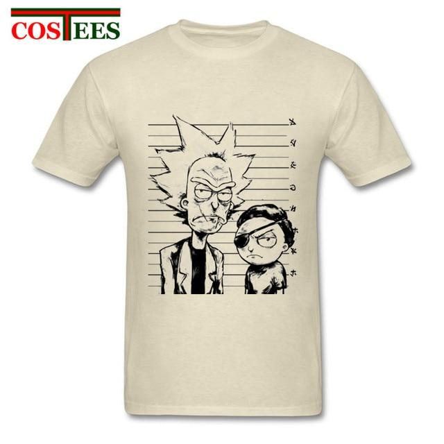 76831529e Nuevo Rick y Morty hombres camiseta Diseño impresión digital 100% algodón  superior Camisetas Tees personalizado