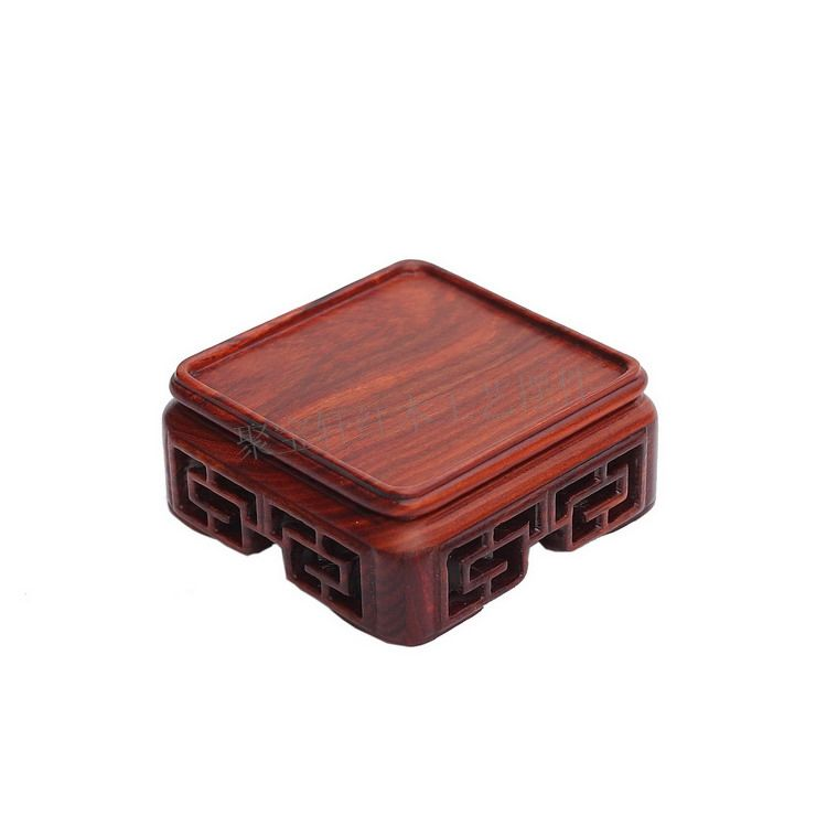 Red Wingceltis Woodcarving Handicraft Furnishing Articles of Wood Recommended Seal Tetragonal Mahogany Base