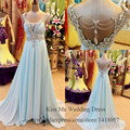 Foto Real de longo elegante vestidos de strass Chiffon vestidos Robe de soirée