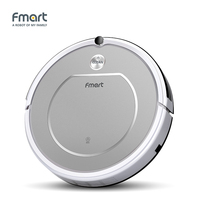 Fmart Smart Robotic Vacuum Cleaner Home Appliances 128ML Water Tank Wet 300ML Dustbin Sweeper Aspirator 3