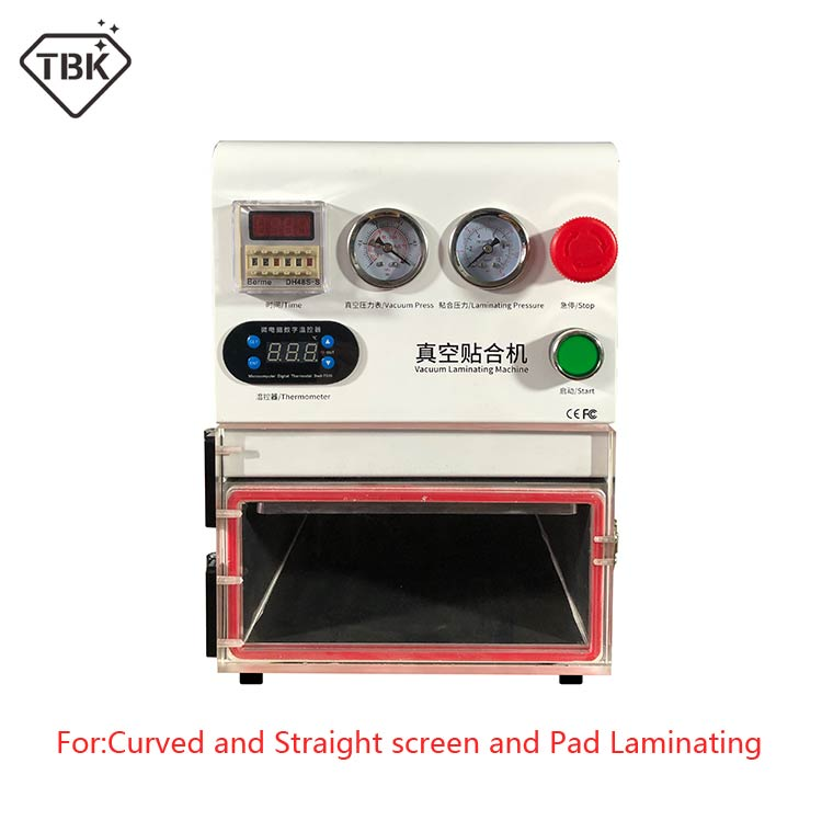 2019 Newest TBK-108P OCA Lamination Machine 14 inch Vacuum Laminating Machine for curved screen and straight screen and Pad