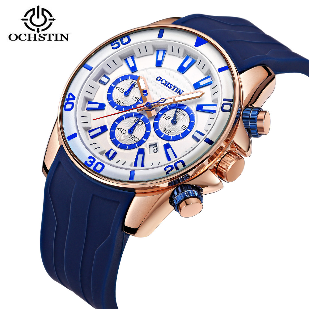 2018 OCHSTIN Business Quartz Watch Top Brand Luxury Silicone Men Watch Waterproof Men Wrist Watch Male Clock Relogio Masculino watch men ochstin top luxury brand designer military quartz watch silicone business black sport quartz watch male wristwatch