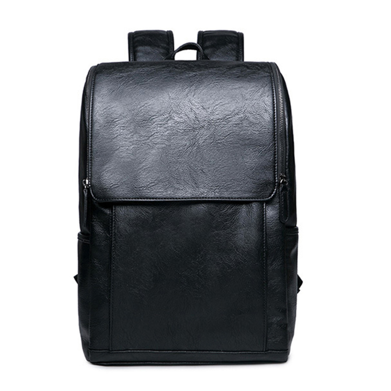 Men Backpack Fashion pu Leather School Bags Rucksack for male men Travel bag Casual schoolbag travel