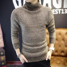 New spring 2016 men thickening turtleneck set of head of cultivate one's morality sweater top male teenagers