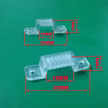 5000Pcs 10000Pcs 20000Pcs LED Fixing Silicone Mounting Clips 10mm 15mm buckles clamps For 220V 110V Waterproof LED Strip Light Tape