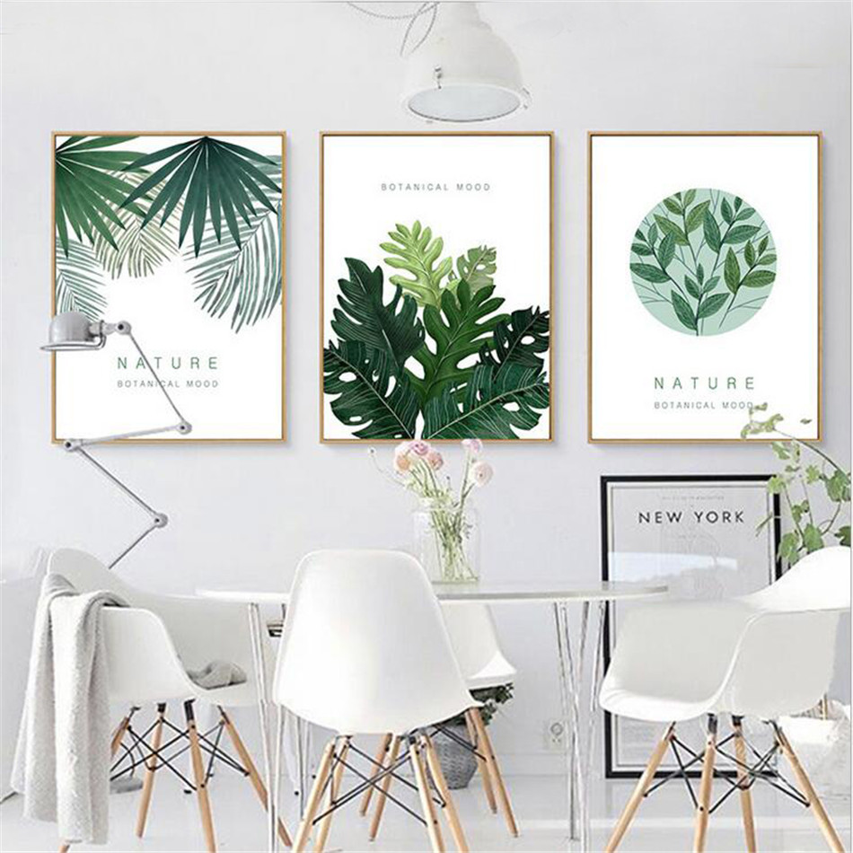 online get cheap custom art aliexpress com alibaba group drop shipping watercolor tropical leaf canvas art print poster wall pictures for home decoration giclee wall