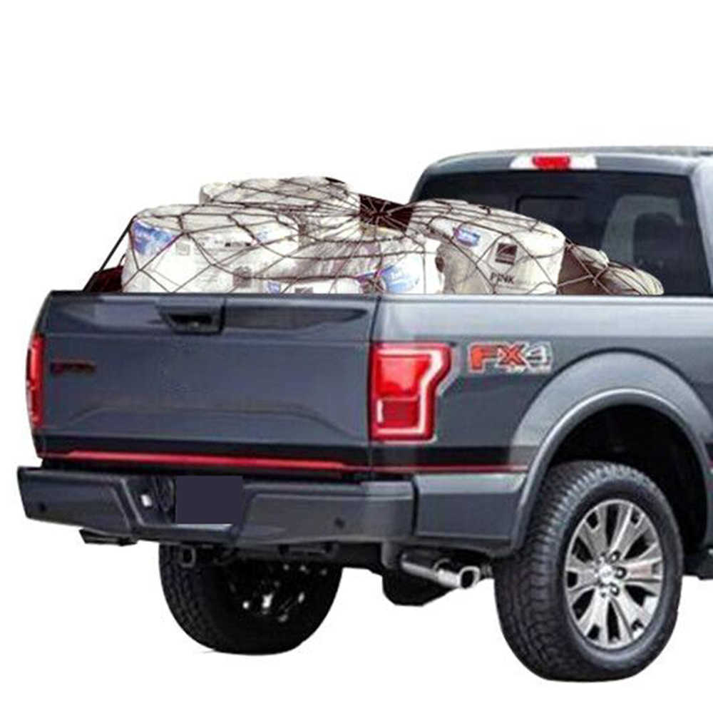 Truck Bed Cargo Net >> Cargo Nets For Pickup Trucks 180x120cm Heavy Duty Truck Bed Net With 16 Pcs Metal Carabiners Hooks Bungee Netting Black