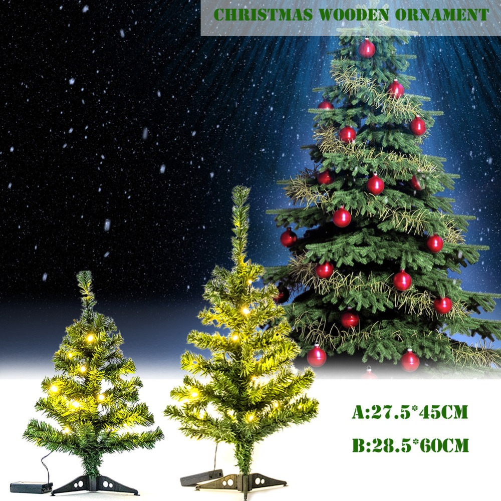 mini led christmas tree 4560cm christmas ornaments with led lights for home shopping mall decoration christmas gifts in trees from home garden on - Wooden Led Christmas Decoration