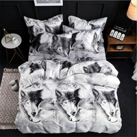 New 3D Print Leopard Tiger Rose Lion Flower Soft Bedding Sets Duvet Cover Bed Set Pillowcase Queen Size 4pcs Dorp Shipping