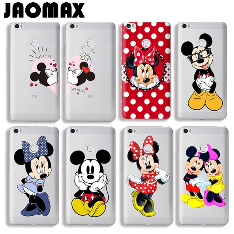 Cute Mickey Minnie Mouse Phone Cases For Xiaomi Redmi 3 4 3S Note 3 Note 2 Note 2 Pro Transparent Silicone Protective Back Cover