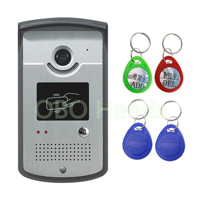 XSL-ID Entrance Machine Intercom System Color Video Door Phone Outdoor DoorBell IR Camera With CMOS Night Vision Can Reader Card