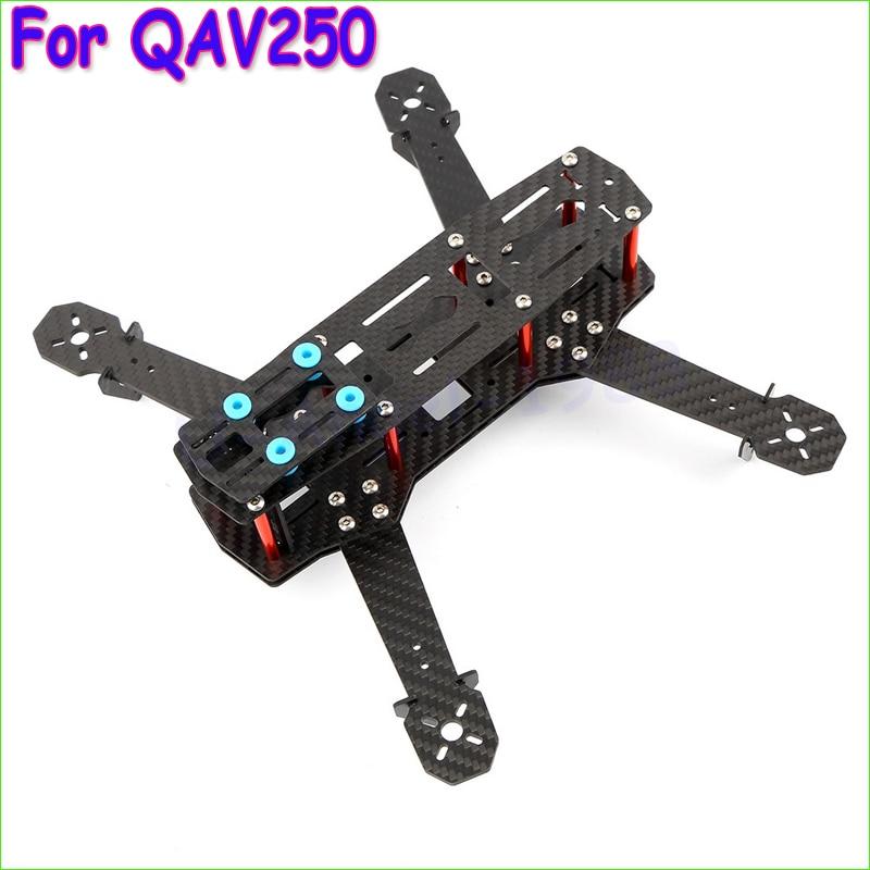 Wholesale 1set NEW Carbon Fiber 4 Axis 250mm Mini Quadcopter Frame For QAV250 Quadcopter Dropship zmr250 250mm carbon fiber 4 axis 250 mm fpv quadcopter mini h quad frame for qav250