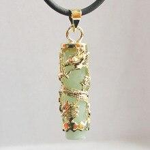 Опт/розница специальный китайский стиль натуральный нефрит WOMEN'SDragon Подвески ожерелье