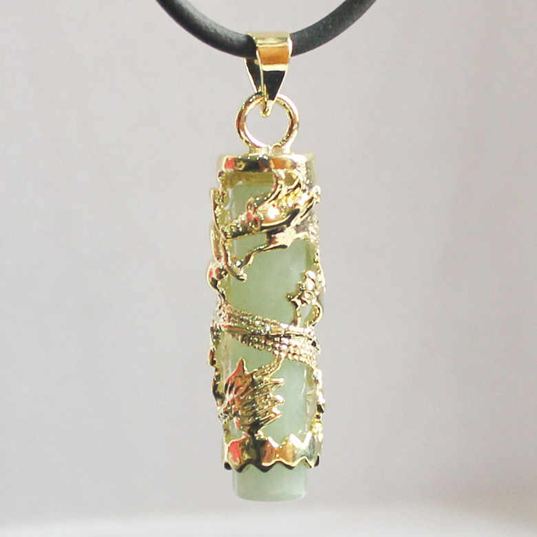 Wholesale/retail special Chinese style natural JADE WOMEN'SDragon Pendants Necklace