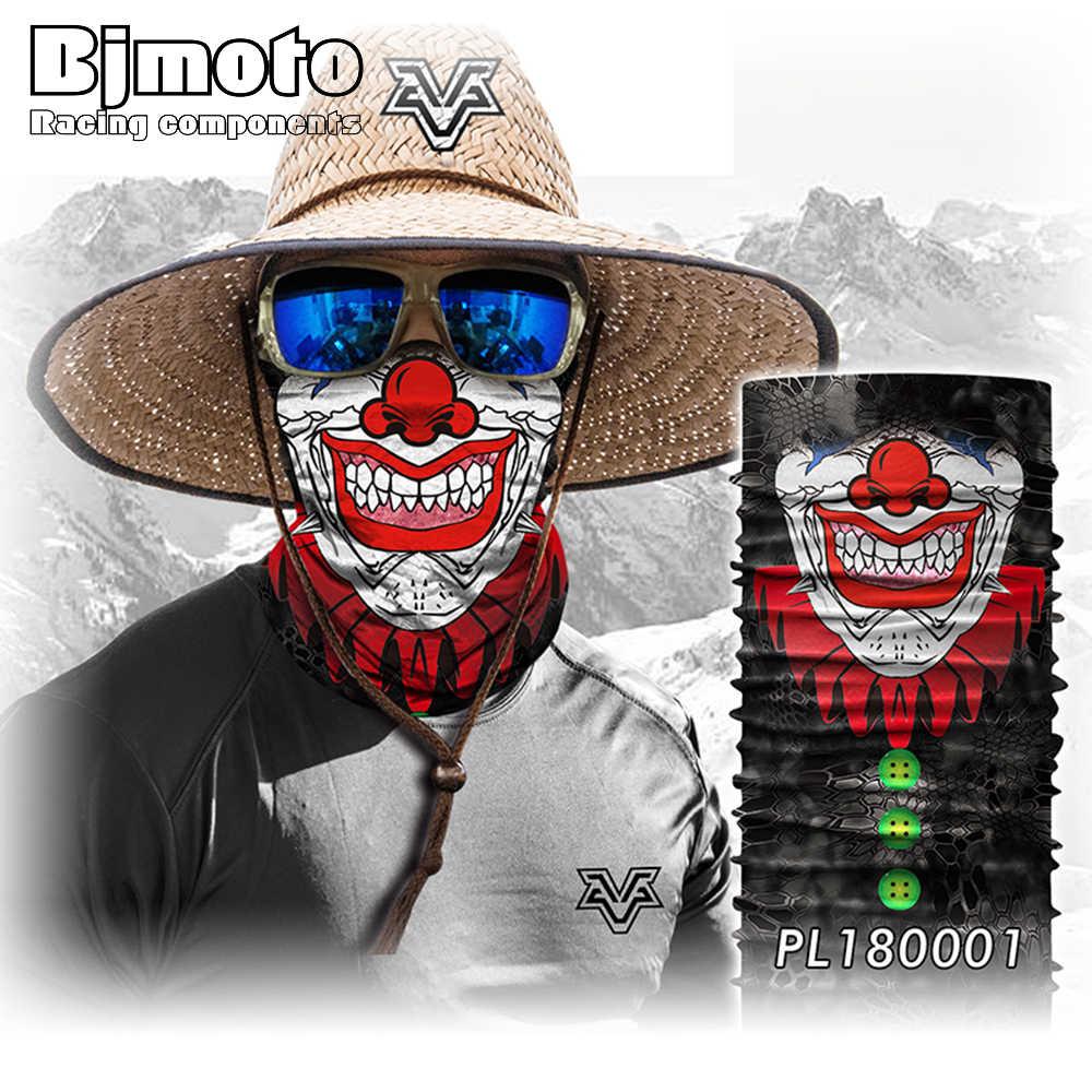 BJMOTO оптом, с черепом шарфы 3D маска с человеческим лицом Волшебная бандана Спортивные Повязка на голову для прогулок на открытом воздухе балакалава Череп Бандана Прямая доставка
