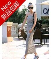 Free Shipping 2014 New Fashion Plus Size 100 Cotton Sexy Tube Top Long Maxi Dress Slim