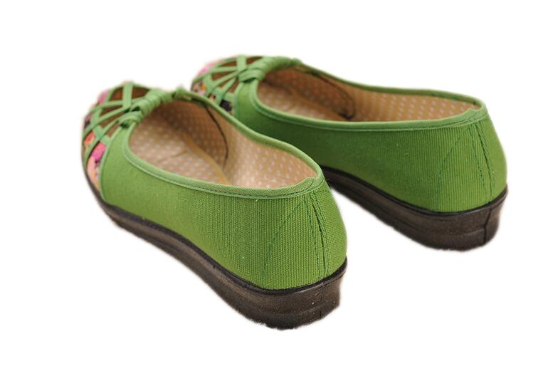 La 41 Huanqiu Mocassins Évider Espadrilles lanse huangse 35 Chaussures Taille meihongse G11 Toile Marque Plus Nouvelle kafeise Été Respirant Appartements 2017 Hongse Femmes lvse OOxrEX