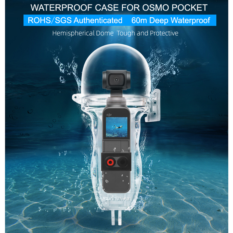 DJI Osmo Pocket Dive Case Housing Waterproof Case or Protective Diving Case Shell 60M Depth Camera