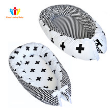 Newborn Baby Crib Bumper Protector Infant Bed Comfortable Protect Sleeping Basket Baby Boy Girl Bedding Cradle Co-Sleeping Cribs(China)