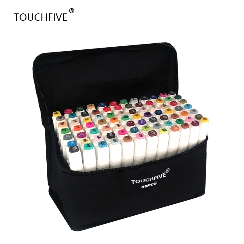 TouchFIVE 20/30/40/60/80/168 Farben set Kunstmarkierungen alkohol Dual Headed graffiti marker stift manga zeichnung set liner pinsel stift