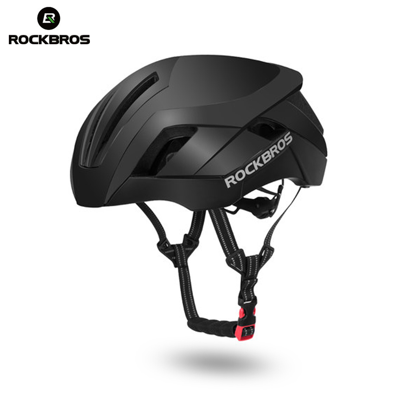 ROCKBROS 3 in 1 Pneumatic Sports Helmets Reflective MTB Road Bicycle Bike Helmet Safety Light Integrally-Molded Cycling Helmets rockbros cycling helmet eps reflective bike helmet 3 in 1 mtb road bicycle men s safety light helmet integrally molded pneumatic