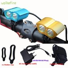 Walkefire A21 5000 Lumen 2x U2 LED Bicycle Front Li