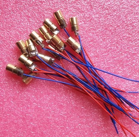 100PCS 5V 650nm 5mW Adjustable Laser Dot Diode Module Red Sight Copper Head Mini Laser Pointer