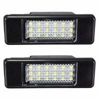 2 יחידות רכב החדש LED מנורת אור לוחית רישוי מספר לפיג 'ו סיטרואן 106 207 307 308 406 407