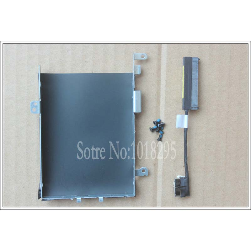 ФОТО original For DELL LATITUDE E5570 HDD Drive Update Parts HDD Cable and HDD Caddy Bracket FRU: 04G9GN ;0VX90N FREE NYLOK SCREWS