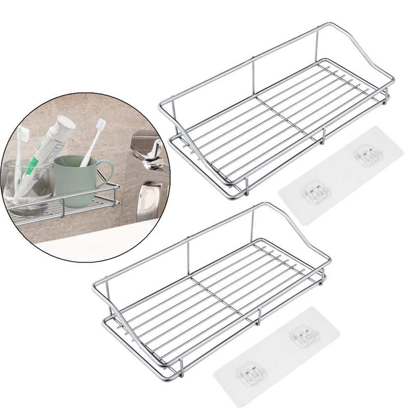 Image 2 - Kitchen Stainless Steel Storage Rack Towel Plate Drain Rack Dish Removable Holder Kitchen Bathroom Tableware Sink Dish Storage-in Racks & Holders from Home & Garden