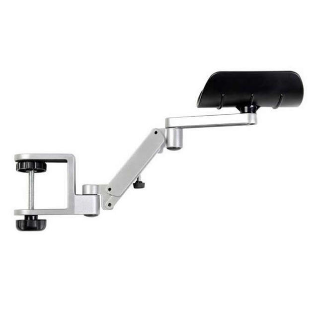 Ergonomic Attachable Arm Rest Wrist Support Pad Armrest Mouse Computer Table Desk Chair Hand Shoulder Protect Sliver Style B