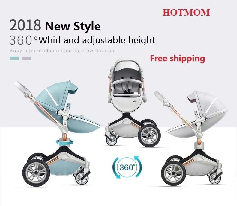 Бесплатная доставка горячая мама Детские коляски Мода и Высокая Пейзаж коляска Роскошная коляска