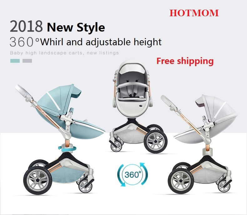 Free Shipping New Baby Stroller Fashion and High Landscape Stroller Luxury baby carriage new luxury baby stroller high landscape three dimensional four round baby stroller