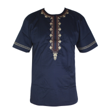Dashiki Fashion Men`s Short Tunic Africa Embroidery Tops African Clothes Bazin Dress Kaftan