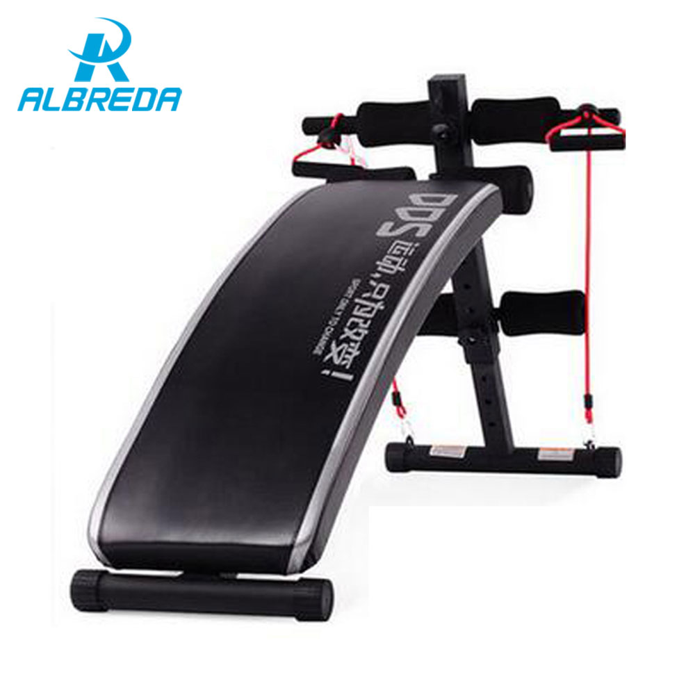 ALBREDA New Sit Up Benches inversion table fitness training more function muscles plate household Bodybuilding equipment machine vu table driven plate replacement level bile machine chassis before ta7318p amplifiers