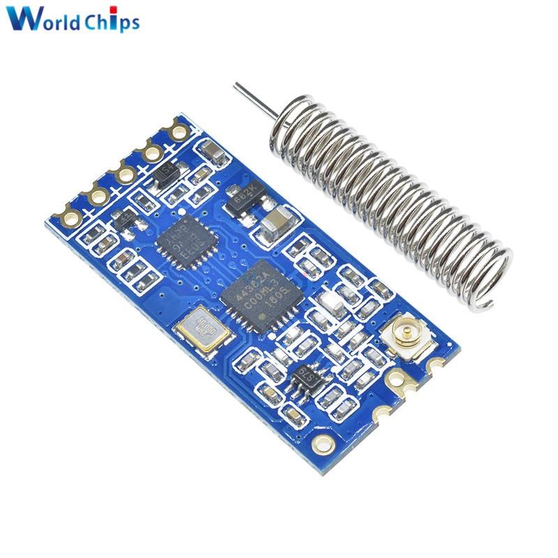 HC-12 433Mhz Drahtlose Serielle Port Mikrocontroller Max 100MW 100 0M Entfernung Drahtlose Modul Mit Antenne DC3.2-5.5V