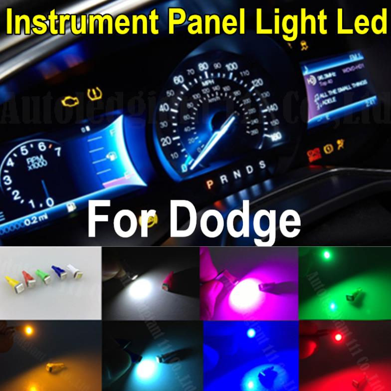 25pieces Bright 7colors Car Dashboard Lights Wedge T5 Led